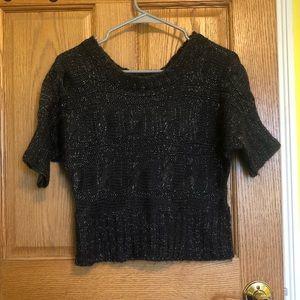 Derek Heart Cropped Sweater